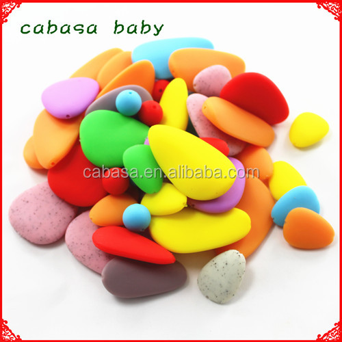 food grade silicone loose beads for necklace/soft chew beads wholesale