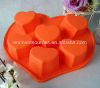 Heart shaped silicone bakeware/silicone cake mould