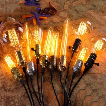 Hot sale decorative vintage antique edison 110v 40w bulb ST64 40W tungsten filament light lamp ST58 T45 G80 G95 G125 T30 A60