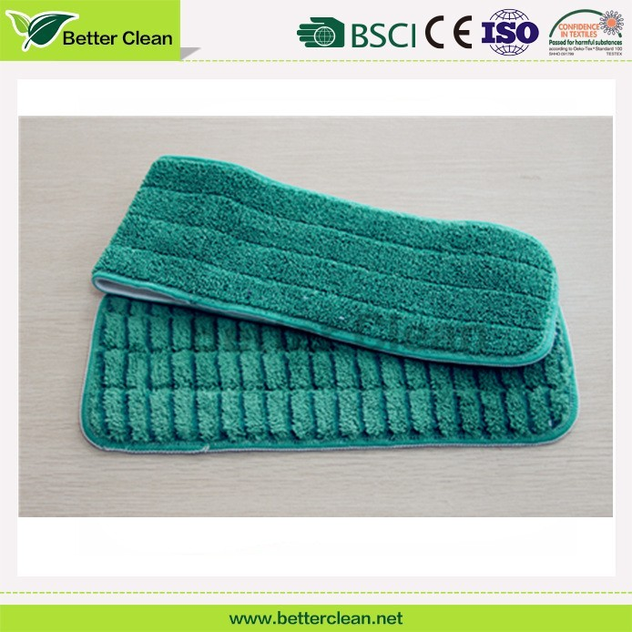 Household cleaning tool for replacement flat polyester cloth mop pad