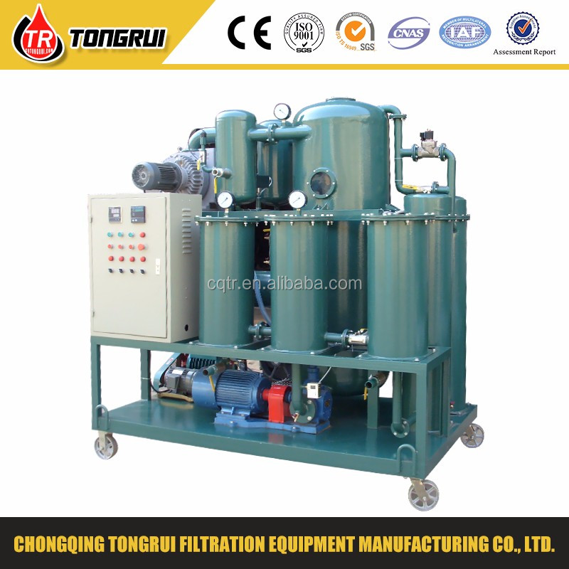 waste engine oil vacuum filtration equipment/black oil cleaning plant