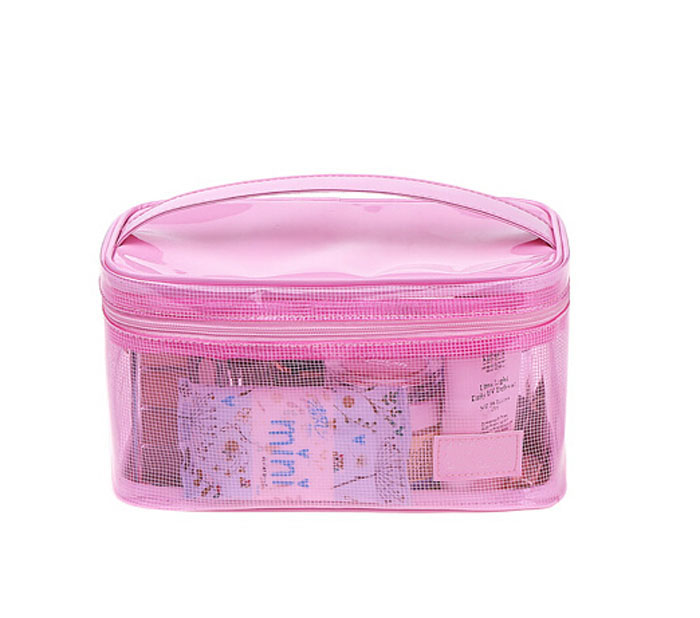 fashion mesh travel cosmetic bag