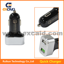 EDQ01 Dual USB Fast Car Charger Output 5V 2.4A 9V 2A 12V 1.5A for iPhone