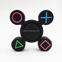 DHL free shipping Hand Spinner Fidget PlayStation 4 Colorful Silica Gel PS4 Fidget Spinner