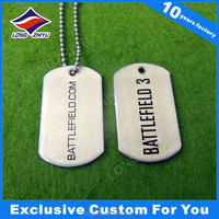 High quality custom shaped engraved dog tag for pets