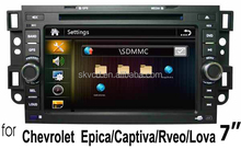 (for CHEVROLET EPICA/Captiva) 7 inch two din car dvd player with GPS,bluetooth