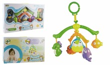 Hot sale musical color baby bed bell hanging toy for the newborn baby
