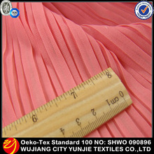 Elegant Pleated dress fabric chiffon
