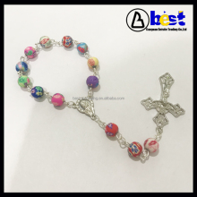 8mm Colorful Fimo Beads Car Rosary