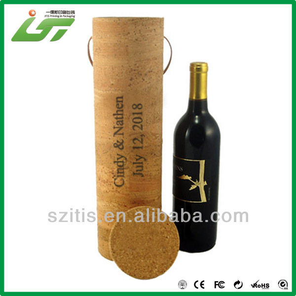 OEM printing cardboard tube box for wine