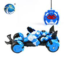 led light 1:18 remote control car deformation toys with battery