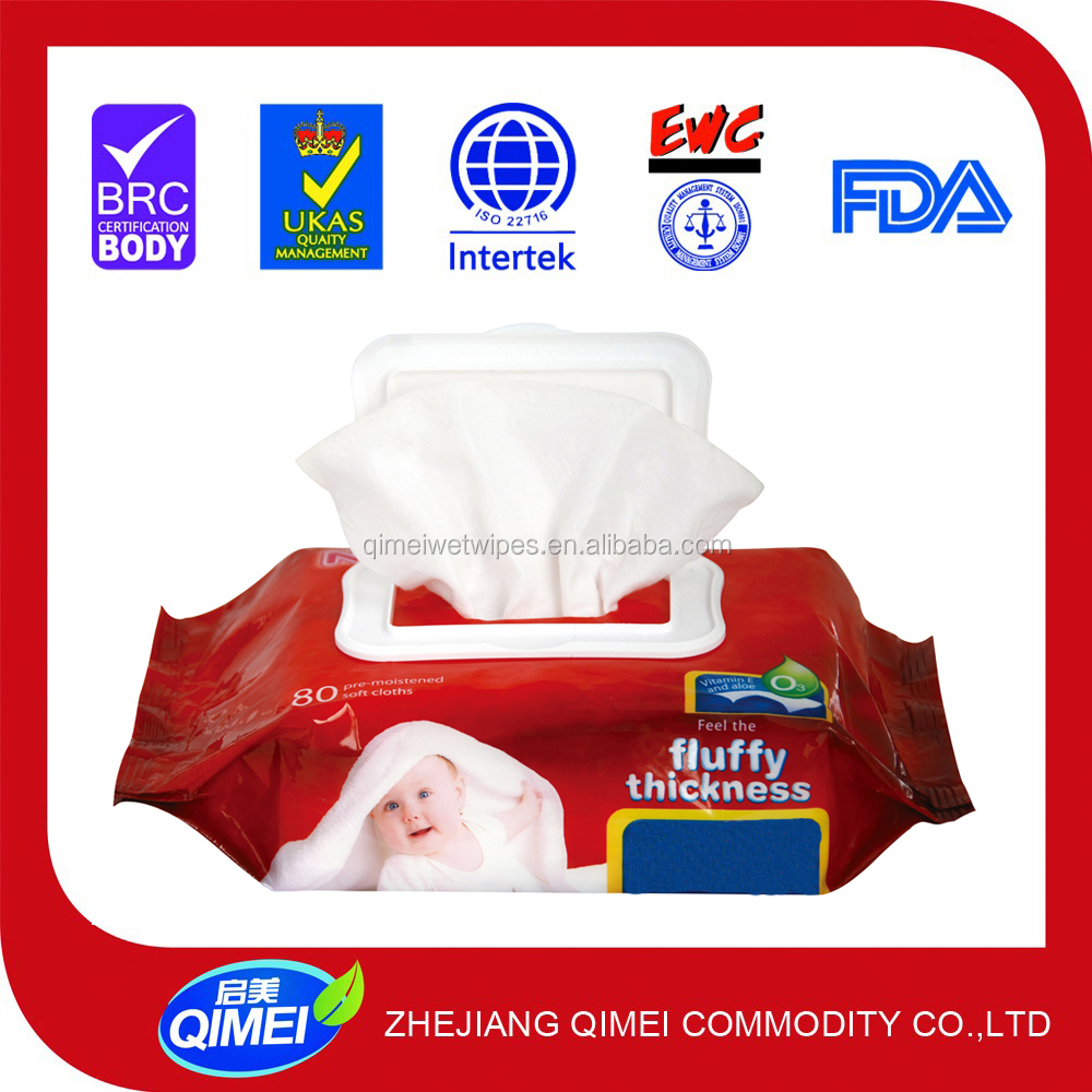 Cleaning Use wet refresh paper wipe for female and babies non-woven fabrics wipe with lid