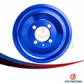 PQY RACING- CRANK PULLEY FOR EVO 1 2 3 4G63 CRANK PULLEY HIGH PERFORMANCE LIGHT WEIGHT RACING JDM BLUE PQY6891