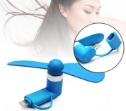 Newest design 2 in 1 mini OTG usb fan for Android and iphone,best promotional gifts USB fan