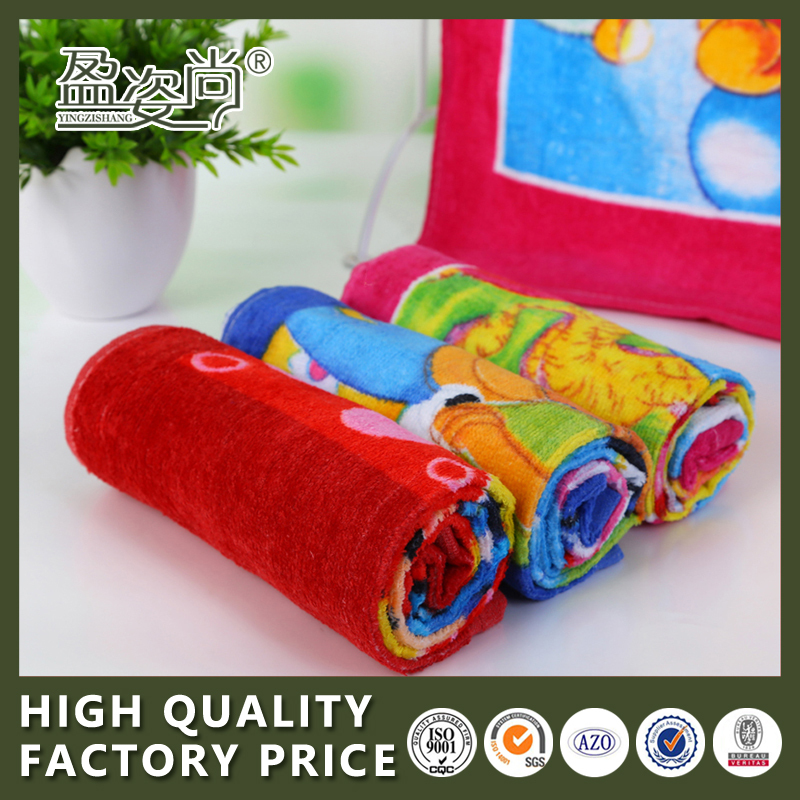 Super soft cartoon microfiber bath towel children baby Museum Special face towel