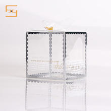 Customized Small Folding Clear Transparent Plastic Gift Packaging Cake Packaging Box