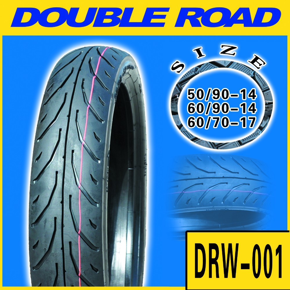 Double Road quality tires for motorcycle 60/80/17