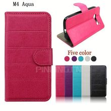 for Sony Xperia M4 Aqua case, cross stripe leather case for Sony Xperia M4 Aqua