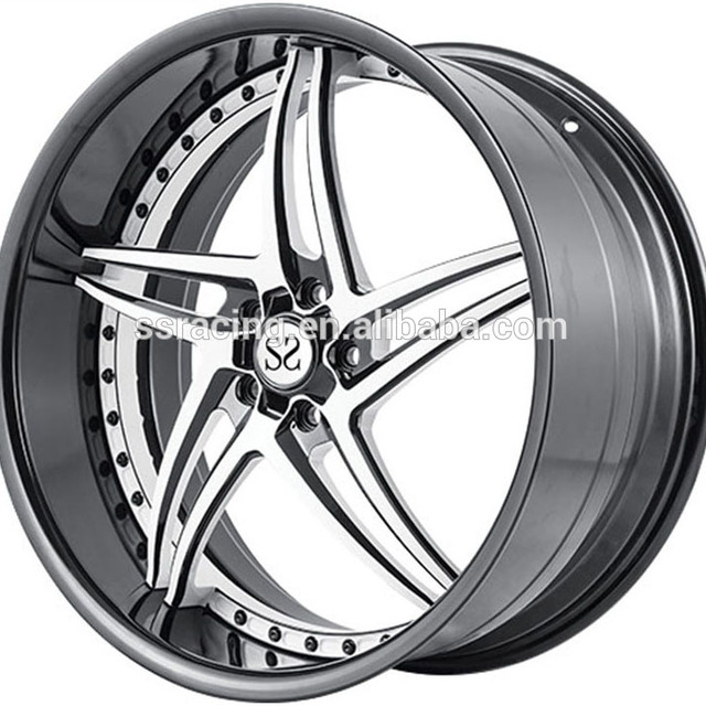 18 INCH 19 INCH 5x112 Black/Silver/Polish Front and Rear Replica rims