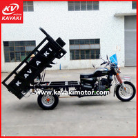guangzhou KAVAKI BRAND 2015 best selling heavy load THREE wheel motorcycle trikes 2 seats tricycle for adults with cheap price