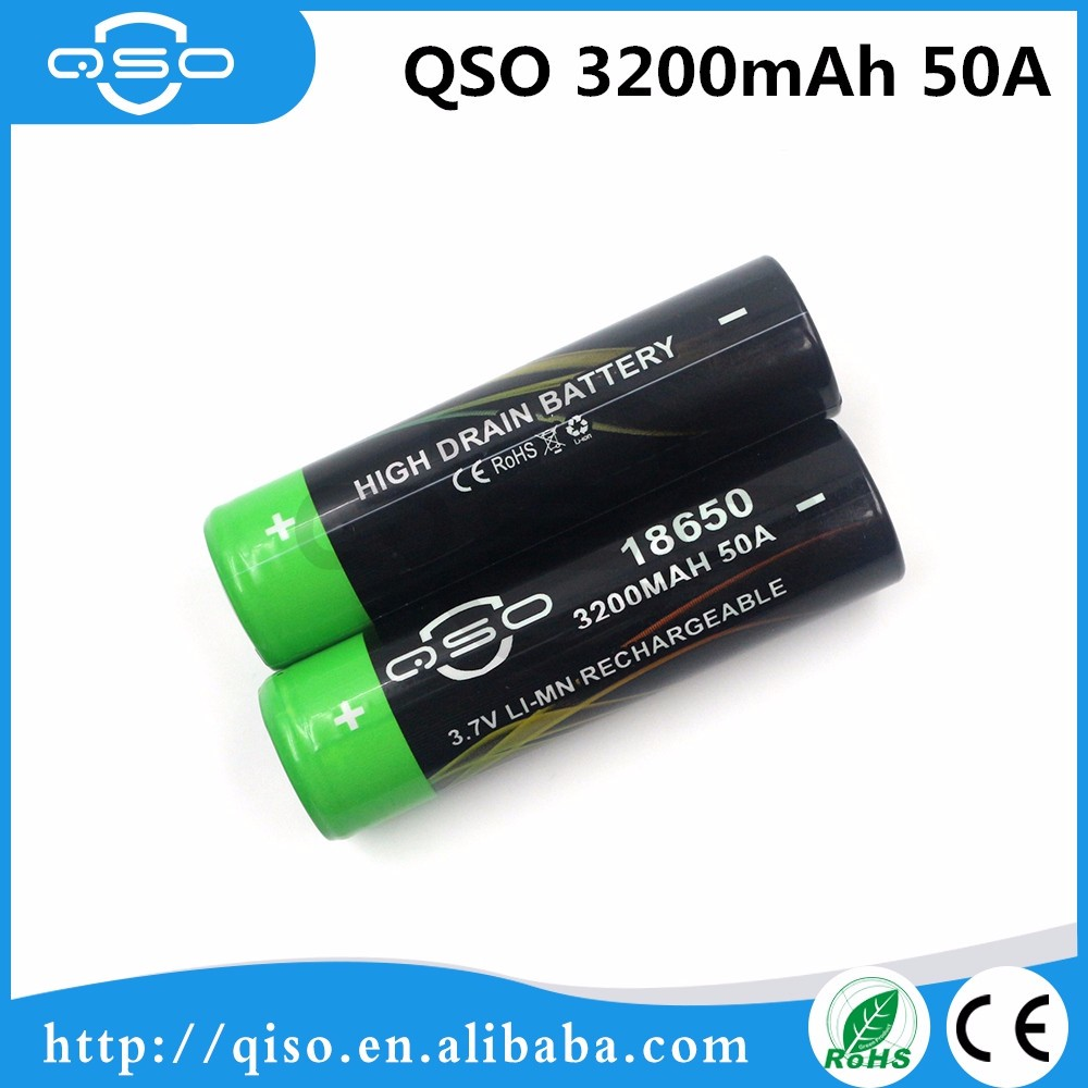 Recycle system 18650 3200mAh 50A battery QSO Li-Mn battery hydrocarbon cleaning machine