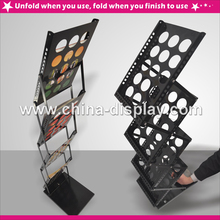 A3 size black pop-up brochure Rack zed up magazine holder Wholesale advertising display stand