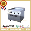 W206 High Quality Freestanding Stainless Steel Gas Flat Griddle With Cabinet