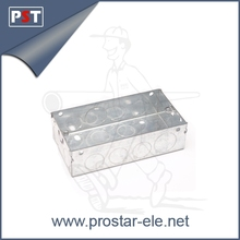 2 Gang 35mm Deep Galvanized Metal Electrical Box