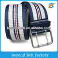 "Beyond 1-1/2"" Wide Fashionable Stripe Web Fabric Belt with Double Pin Buckle"