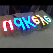 led front lit light box with neon letter