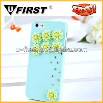 New arrival hot chrysanthemum 3d case for iphone 5g