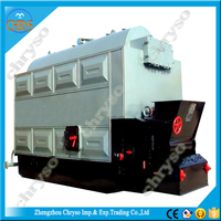 DZL Series 3 screw pipe structure coconut shell biomass coal fired steam boiler