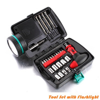 Tool Set With Flashlight Screwdriver Emergency
