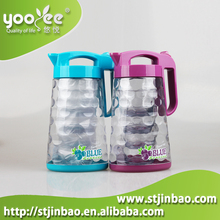 High Quality BPA Free Colored AS Plastic Ice Pitcher with 4 Tumblers