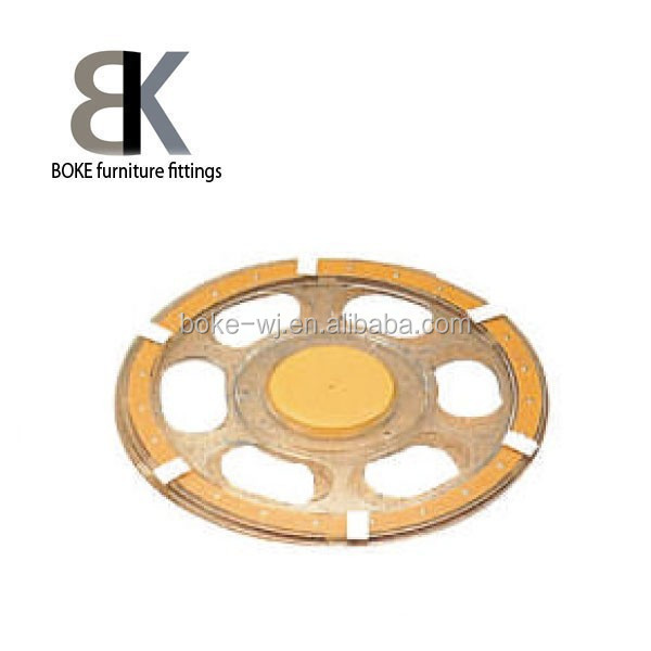Plastic chair swivel plate