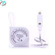 QY-D25 BMI scale retractable usb cable and chargering syn,10cm usb cable