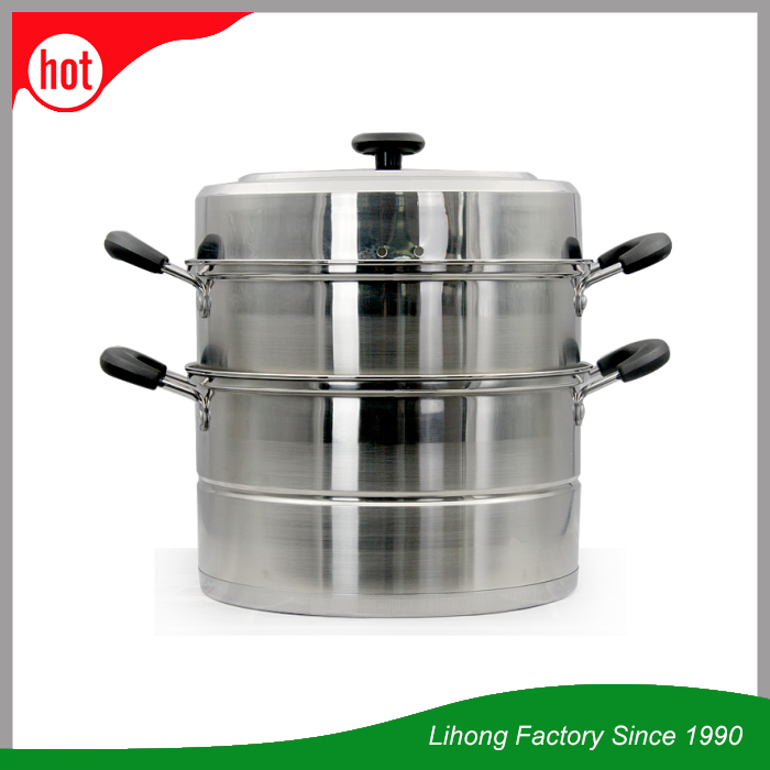 Hot products Korean style kitchen utensils single bottom 3-layer stainless steel food steamer