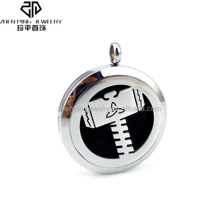 High quality stainless steel aromatherapy necklace diffuser pendant from Dongguan