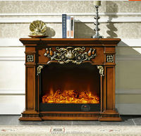 cheap fireplace mantel / With fireplace heater