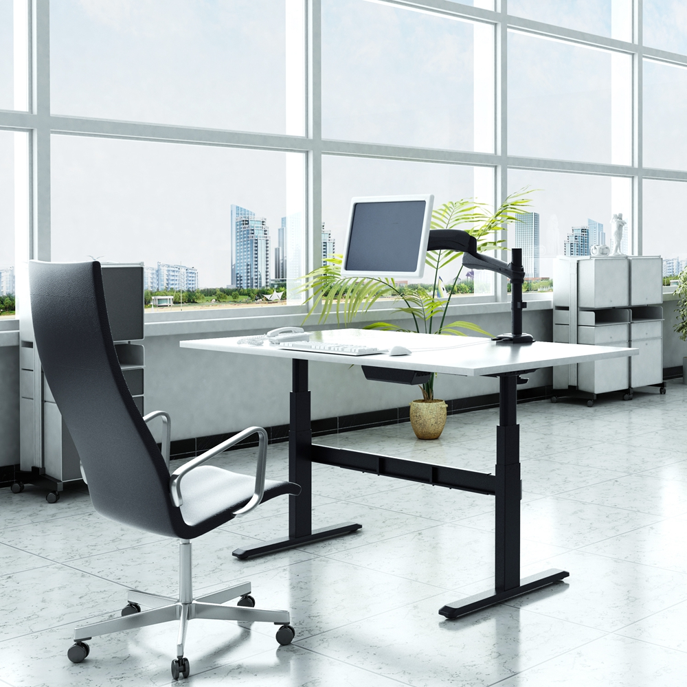 Crank Lifting System Home Office Computer Writing Table Height Adjustable Table,Height Adjustable Desk Frame