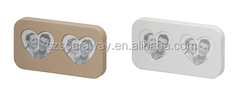 Wholesale new arrival mini magnetic photo frame made in china plastic love photo frame