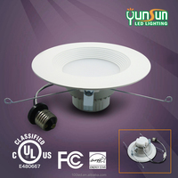 UL listed 5 inch 5000k ra80 15 watt ultra-thin recessed led ceiling lights LED downlight
