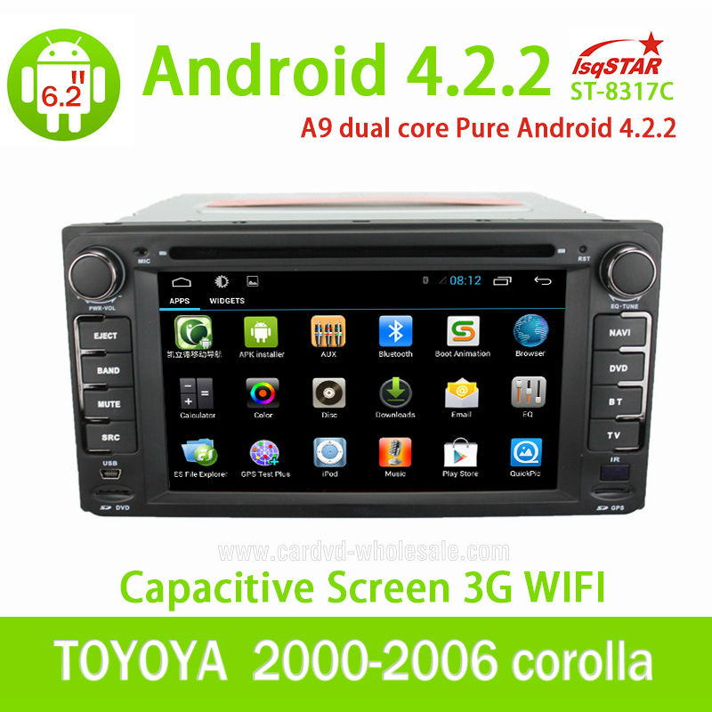 Universal LSQ Star android 4.2 Toyota car stereo with 3G/Wifi/SWC/DVD/Radio/BT Phonebook/USD/ATV...High Quality!!!