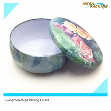 Big Belly Candle Tin Box Round Metal Tin Box Canister