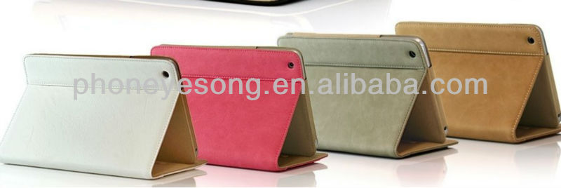 for ipad mini Leather Wallet Case
