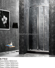 2017 New folding bathtub shower cabin door parts plastic with sliding doors and frame