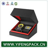 custom-made white paper watch box, watch packaging box with foam/pillow