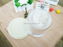 "4"" round clear plastic cake containers, cheap birthday cake box"