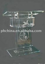 JAL-009 CONTEMPORARY STYLE ACRYLIC LECTERN WITH LOGO