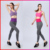Breathable workout fitness elastic womens gym leggings pants